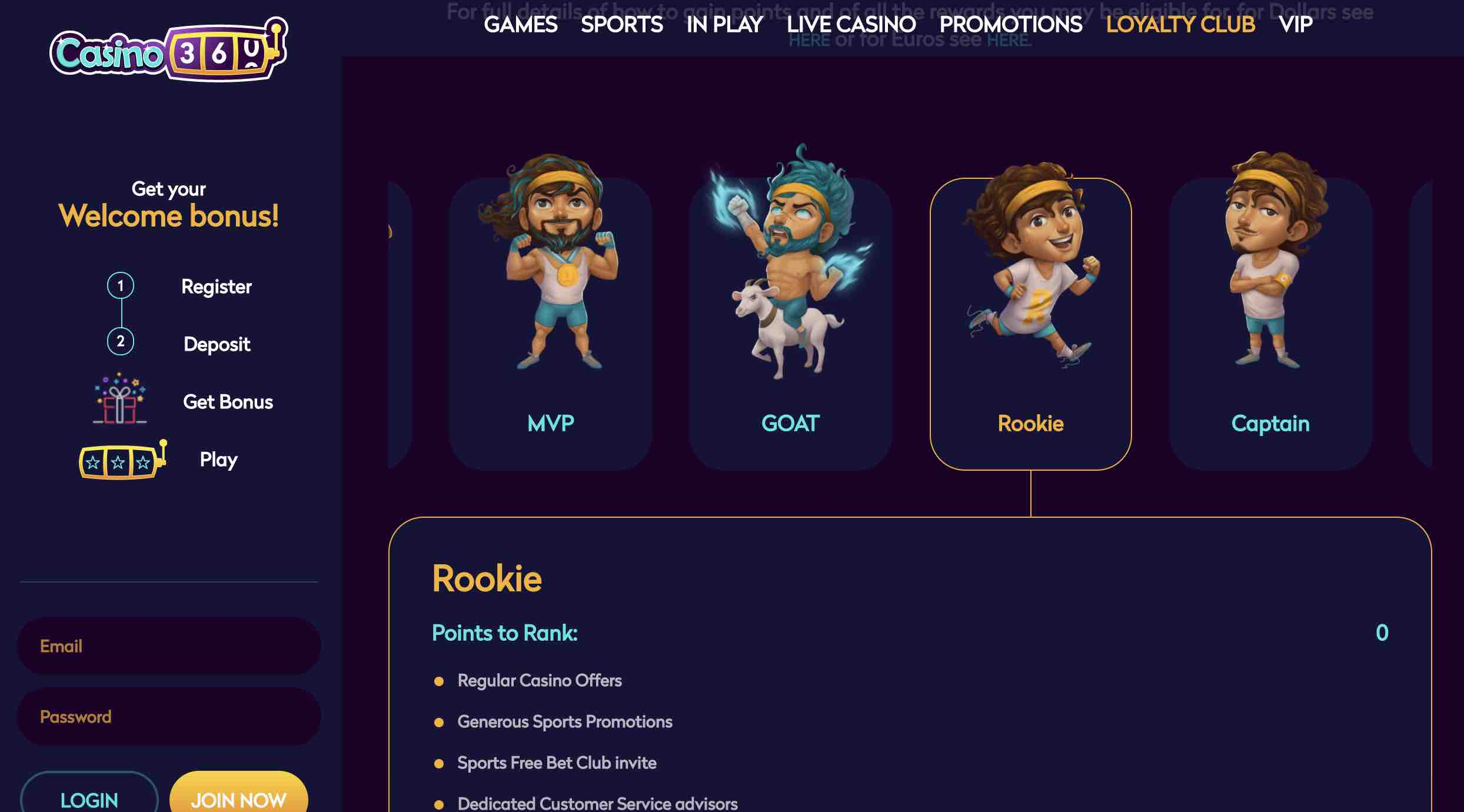 Casino360 Loyalty Program