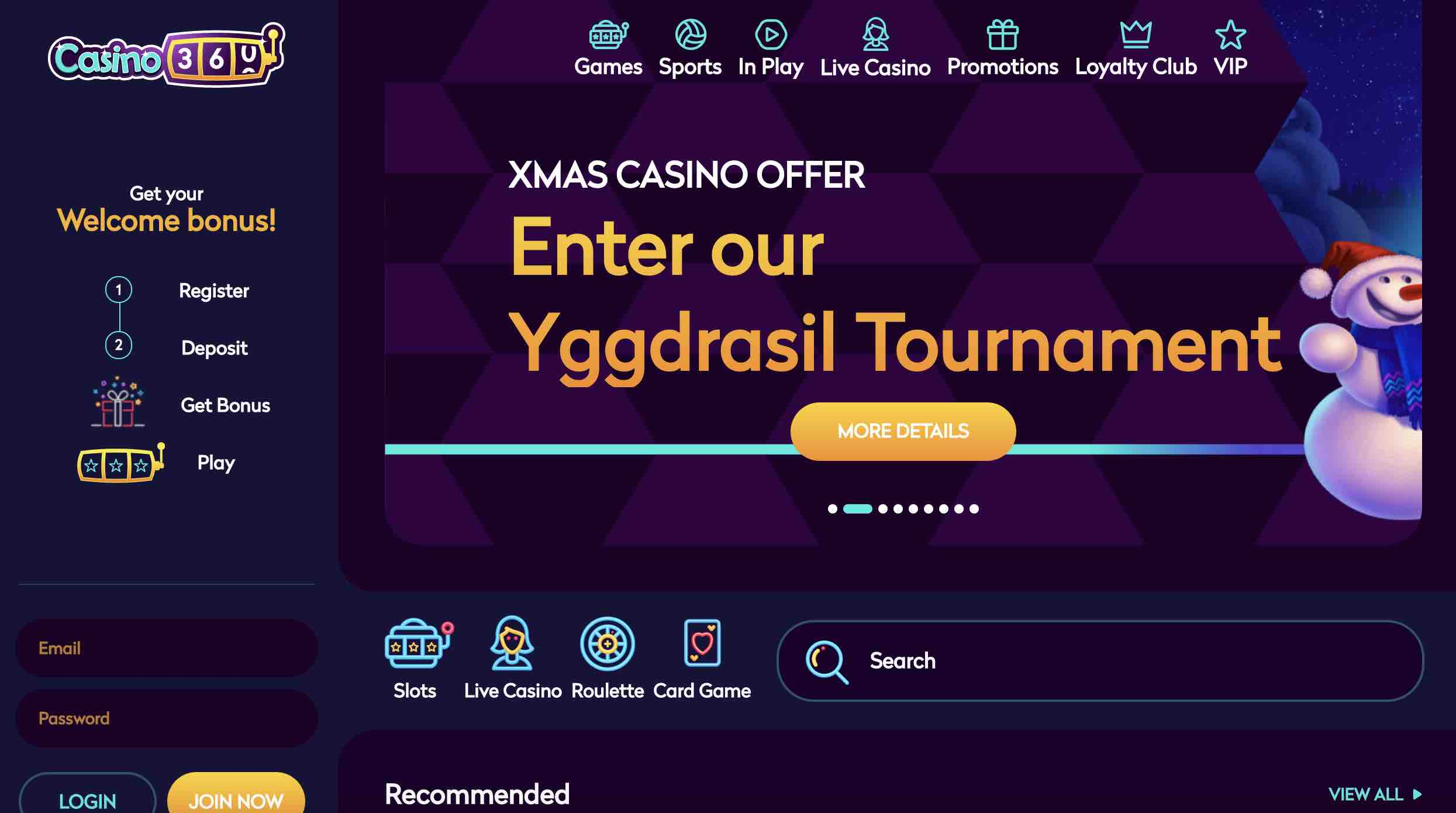 Casino360 Promotions and Tournaments