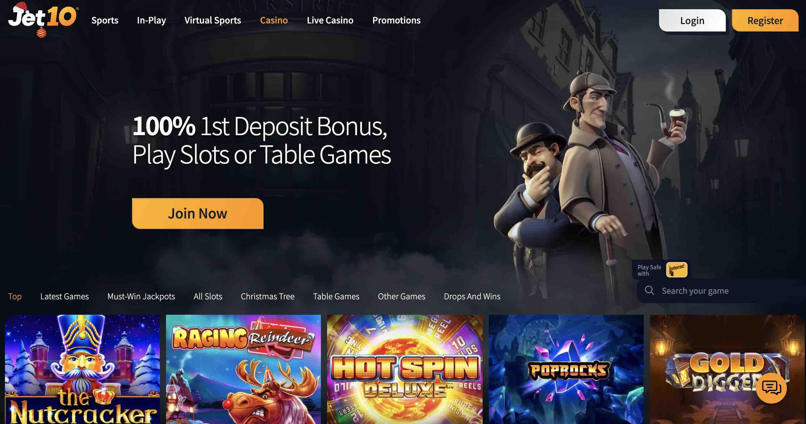 Deposit Bonus at Jet10 Casino