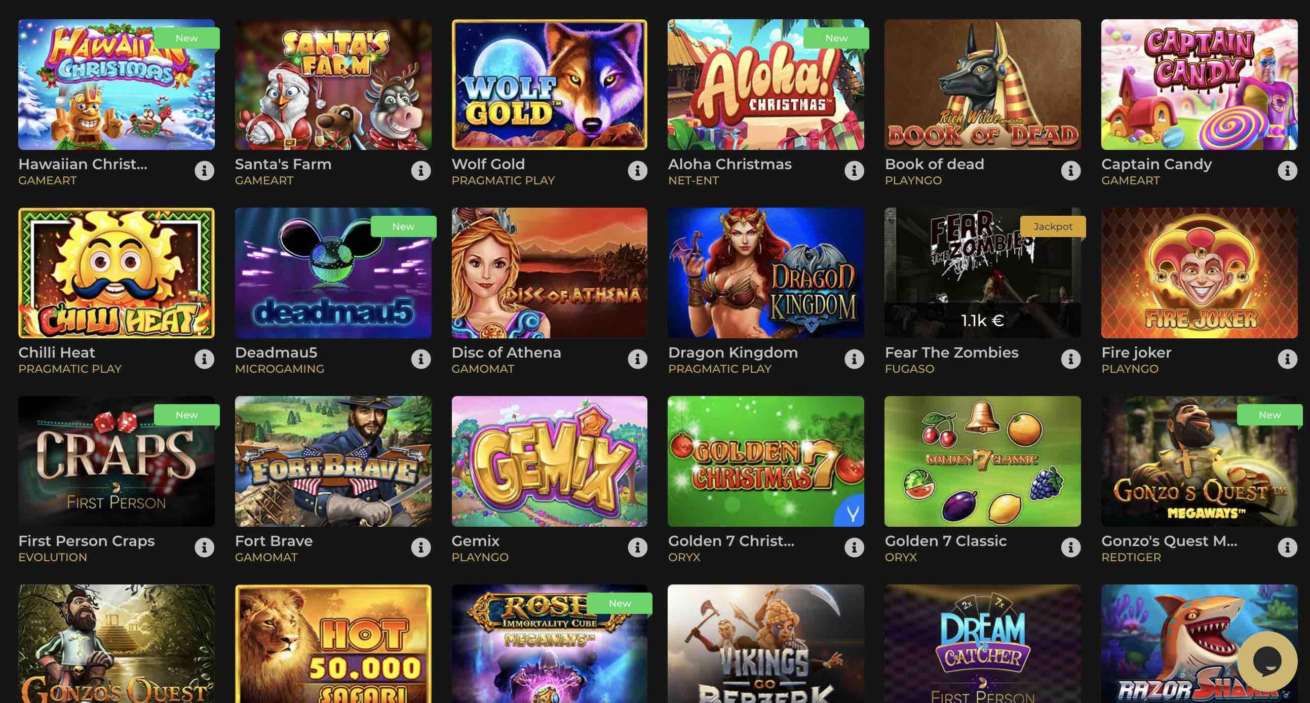 GoldenLine Casino Games