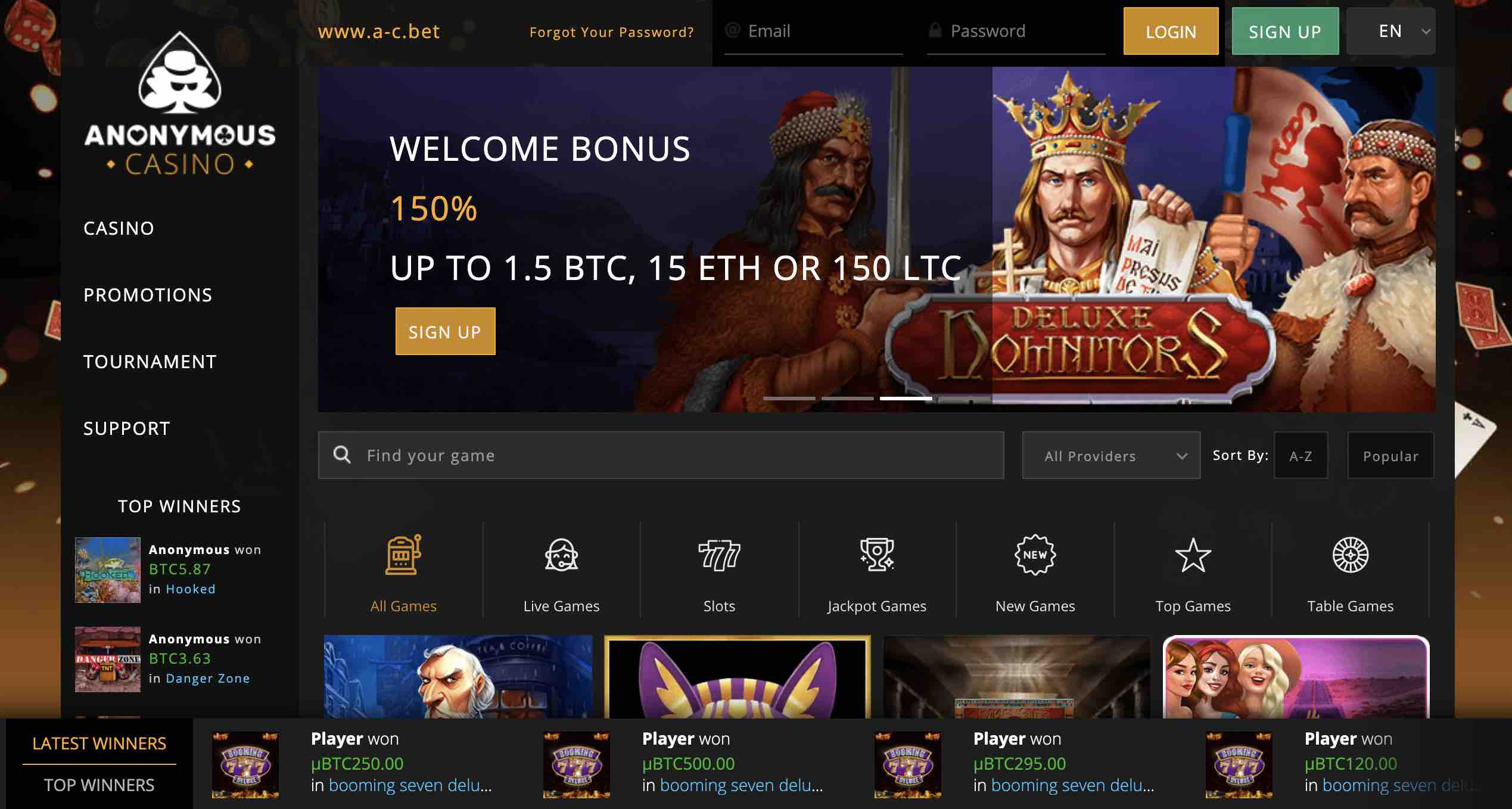 Join Anonymous Casino