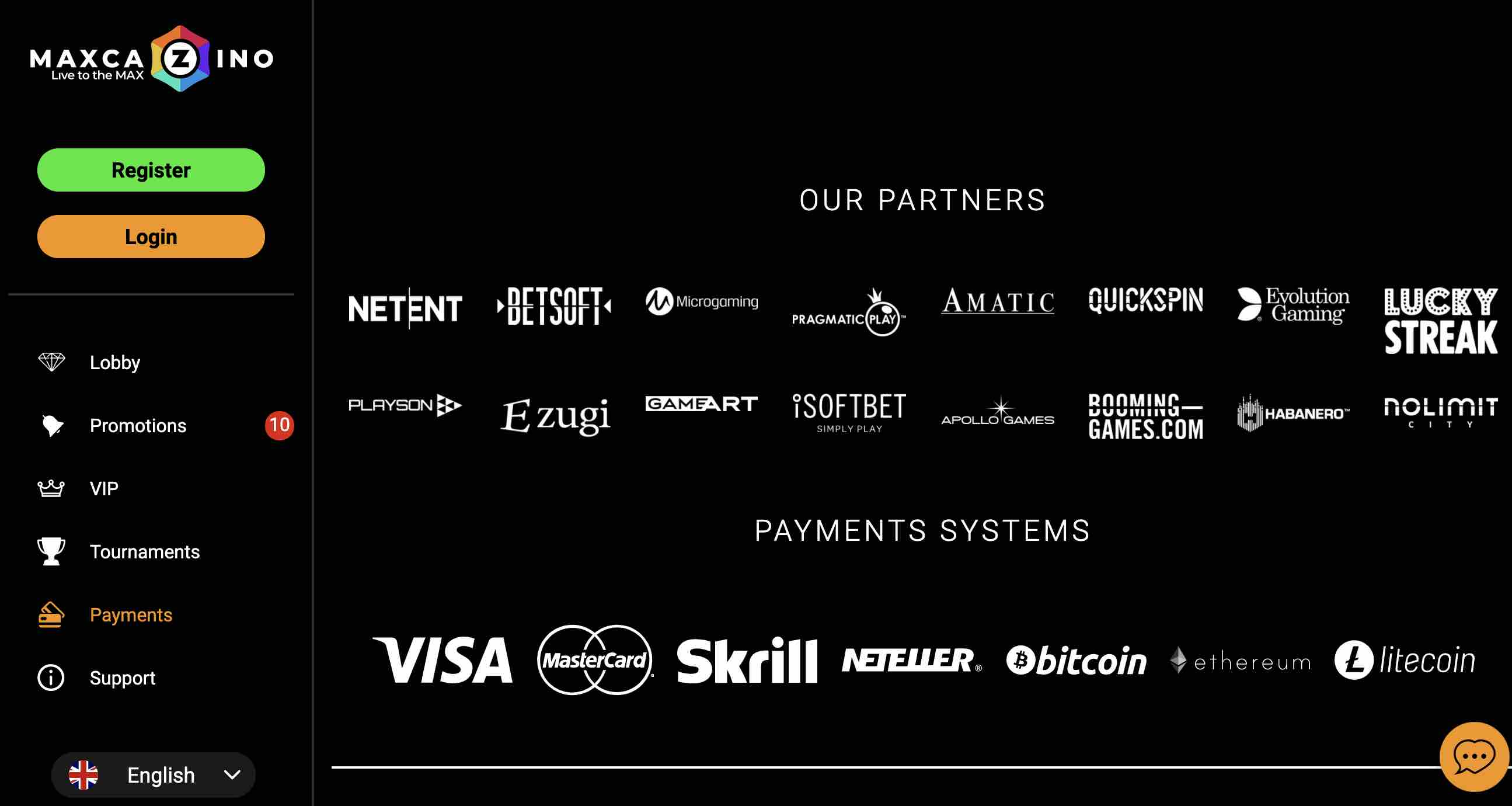 MaxCazino Partners for Payments and Games