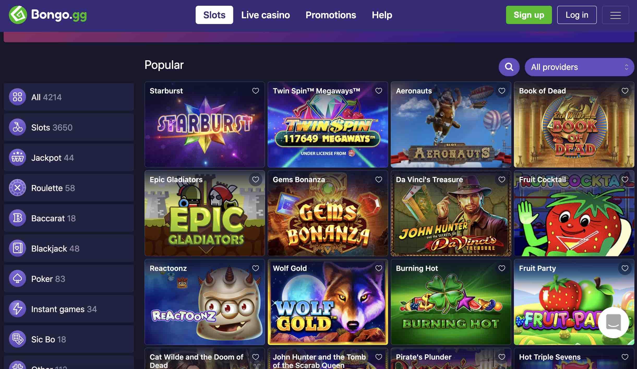 Slots and More at Bongo Casino