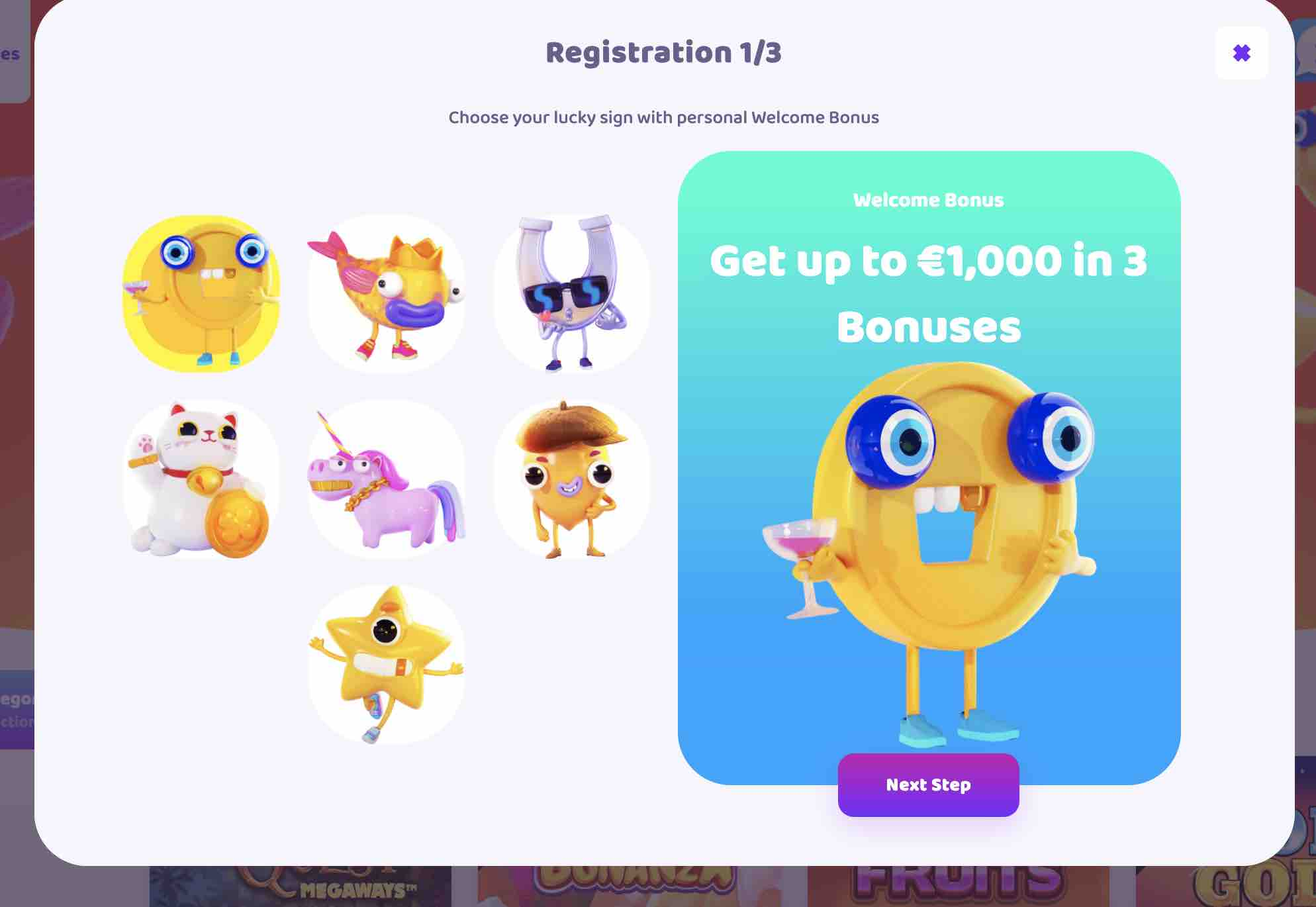 Welcome Bonuses at 7Signs Casino
