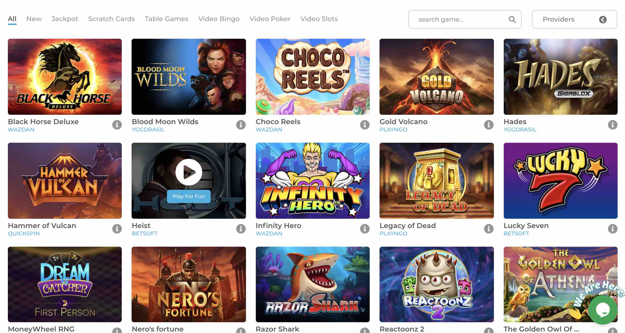 Wolfy Casino Real Money Games