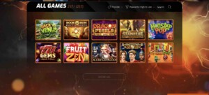 Games at Casino Intense