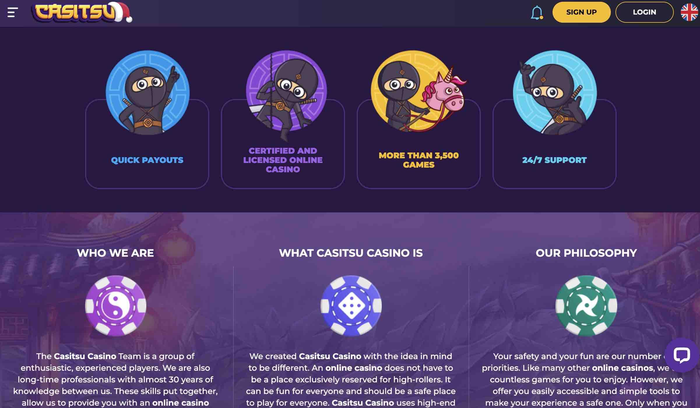 Great Games at Casitsu Casino