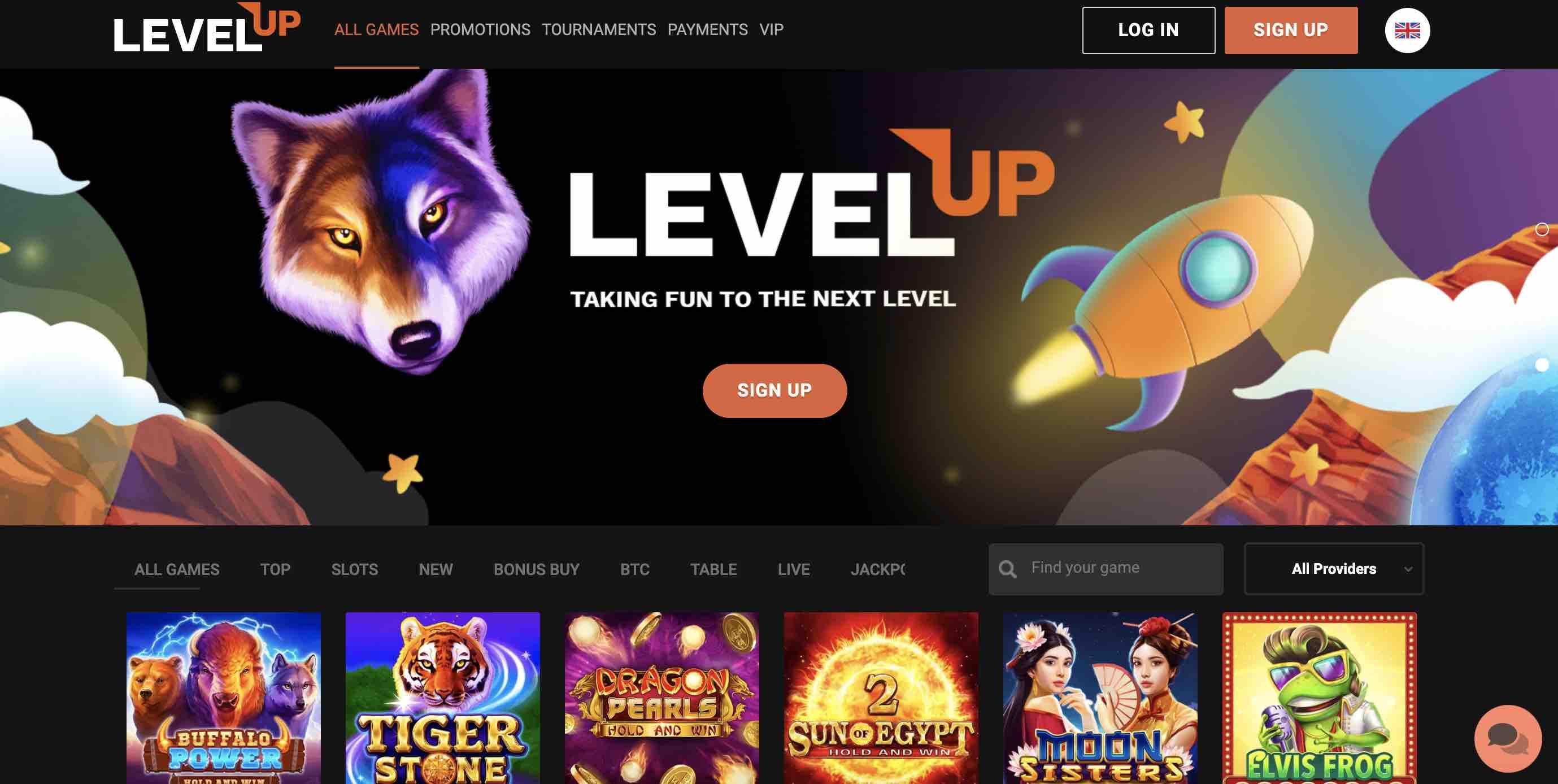 LevelUp Casino Games