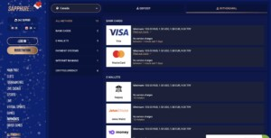 Payment Options at Sapphire Bet