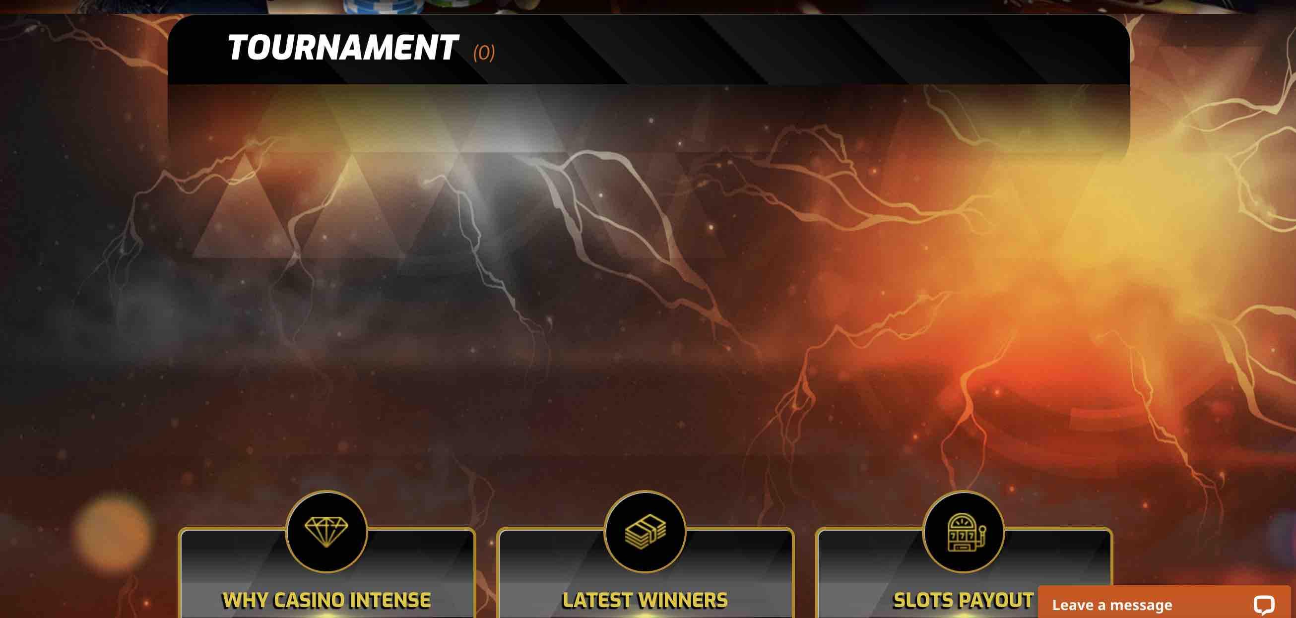 Tournaments at Casino Intense