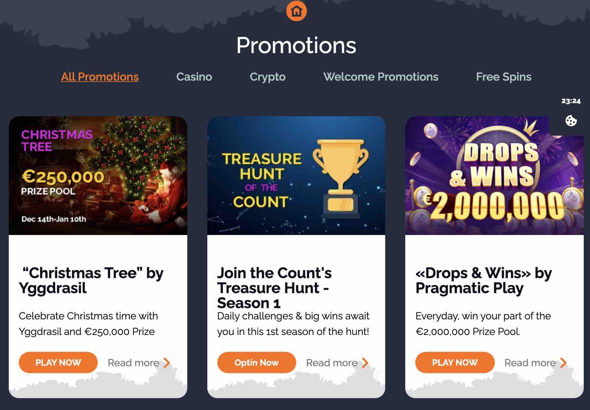 montecryptos casino offers and bonuses