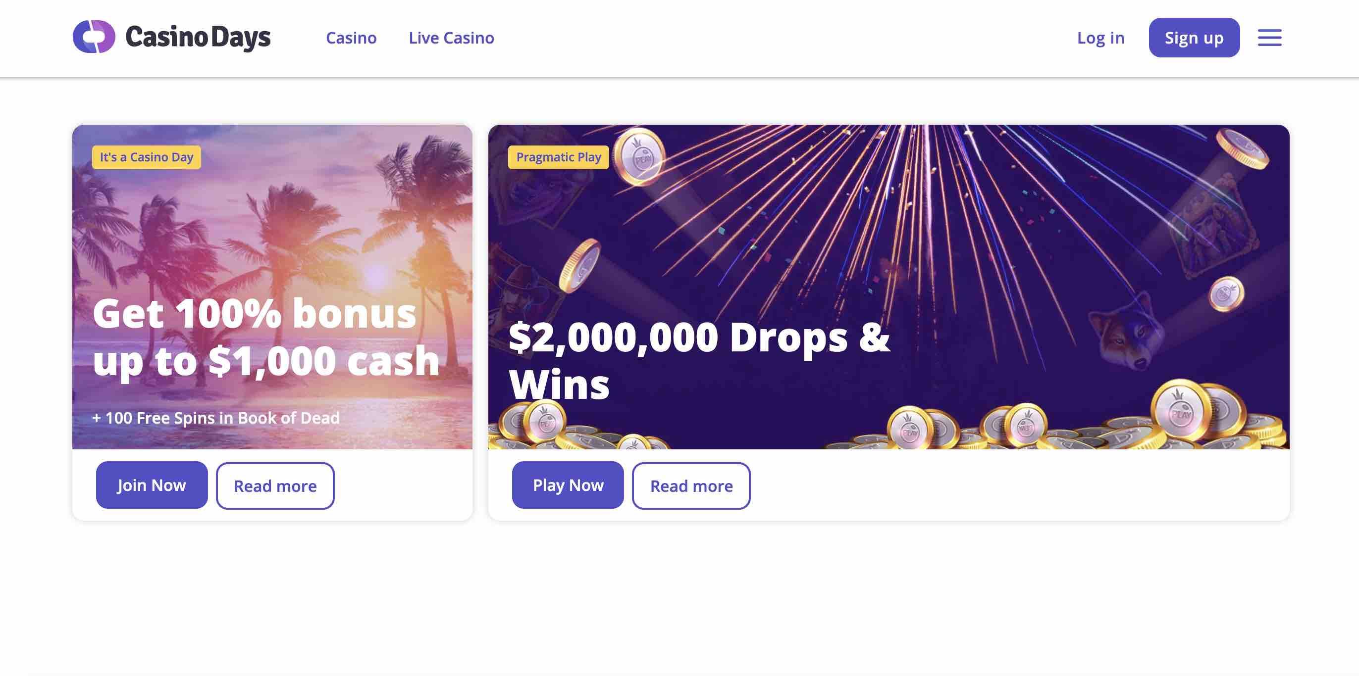 Casino Days Bonuses