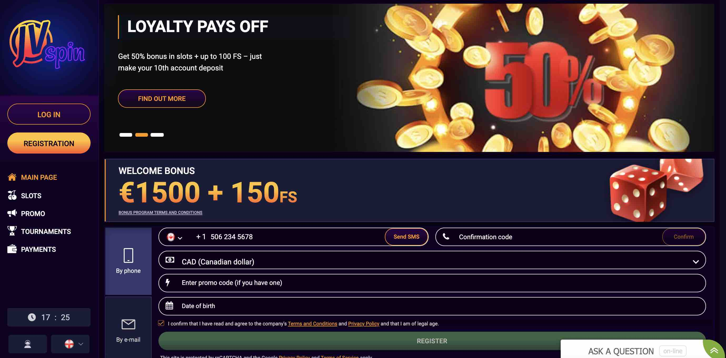 Loyalty Promotions at JV Spin