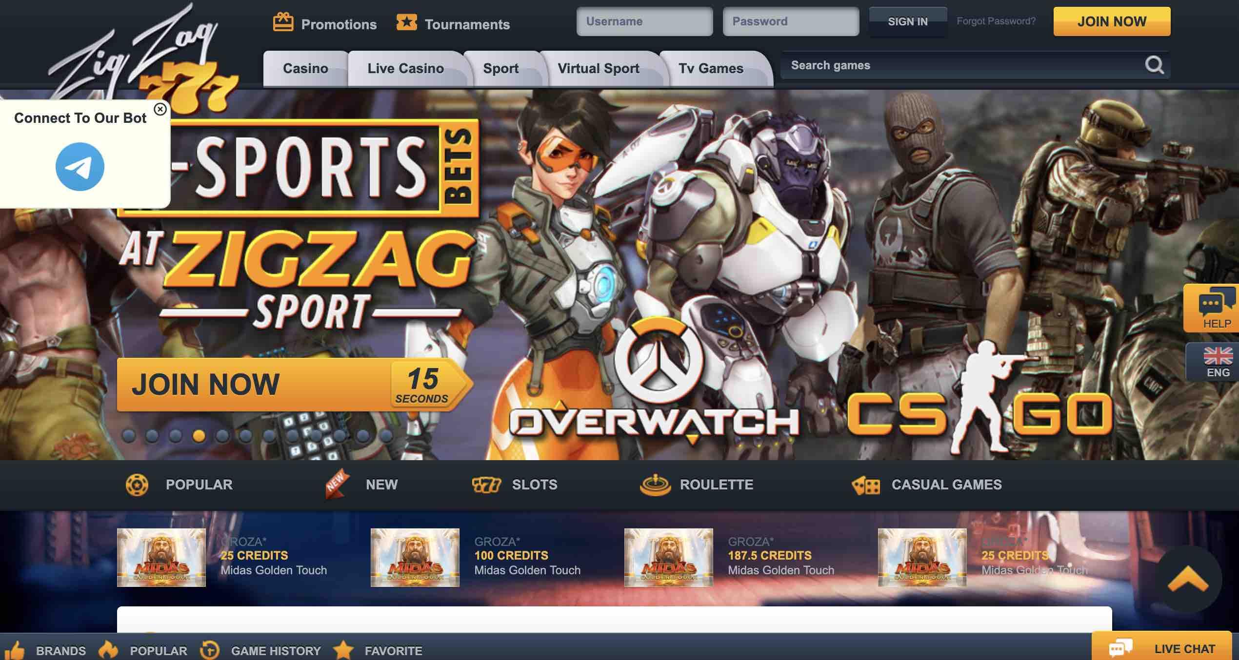 Play Zig Zag 777 Casino Today