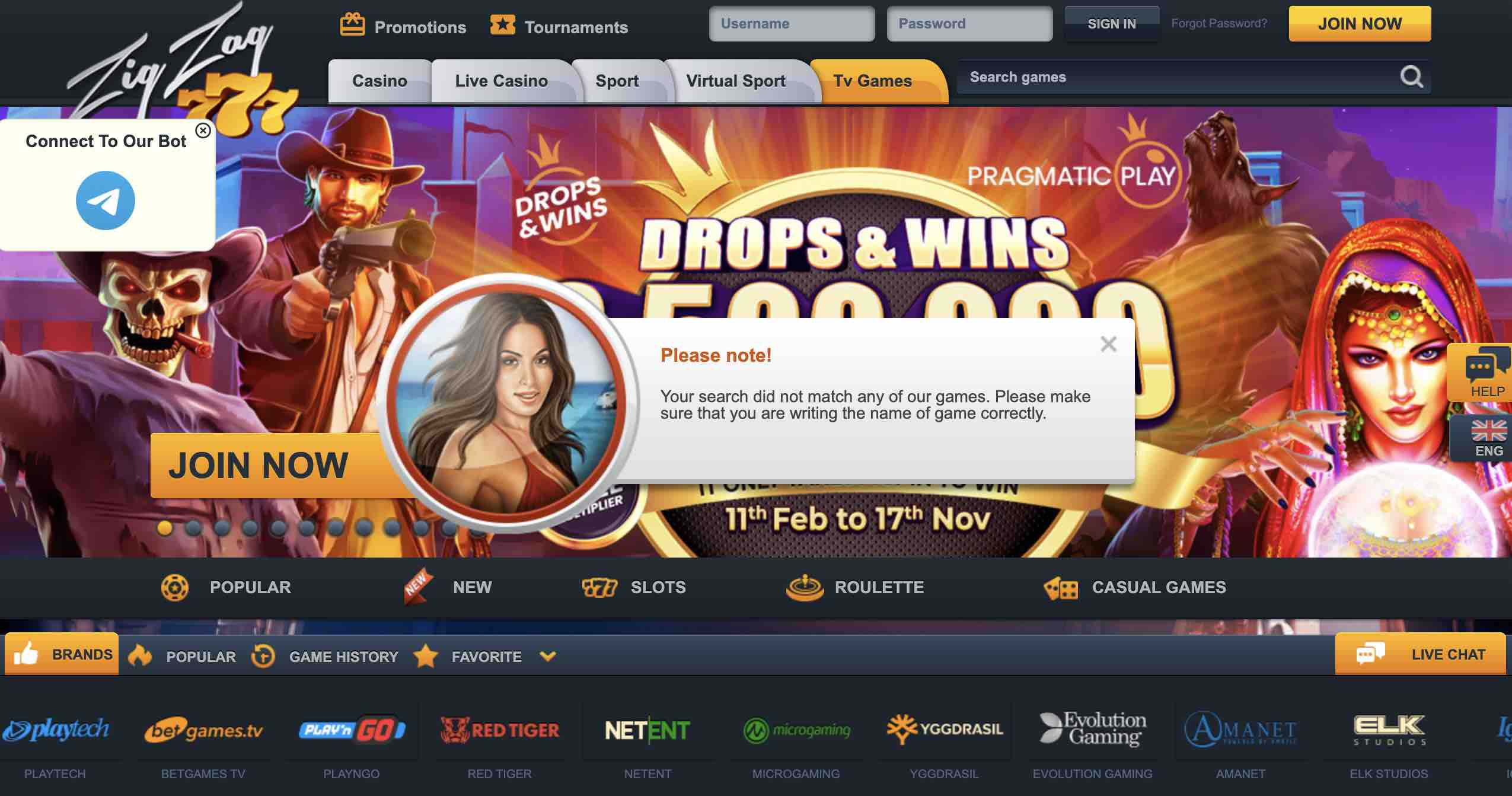 Play Zig Zag 777 Casino