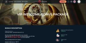 Welcome Bonus at VesperCasino