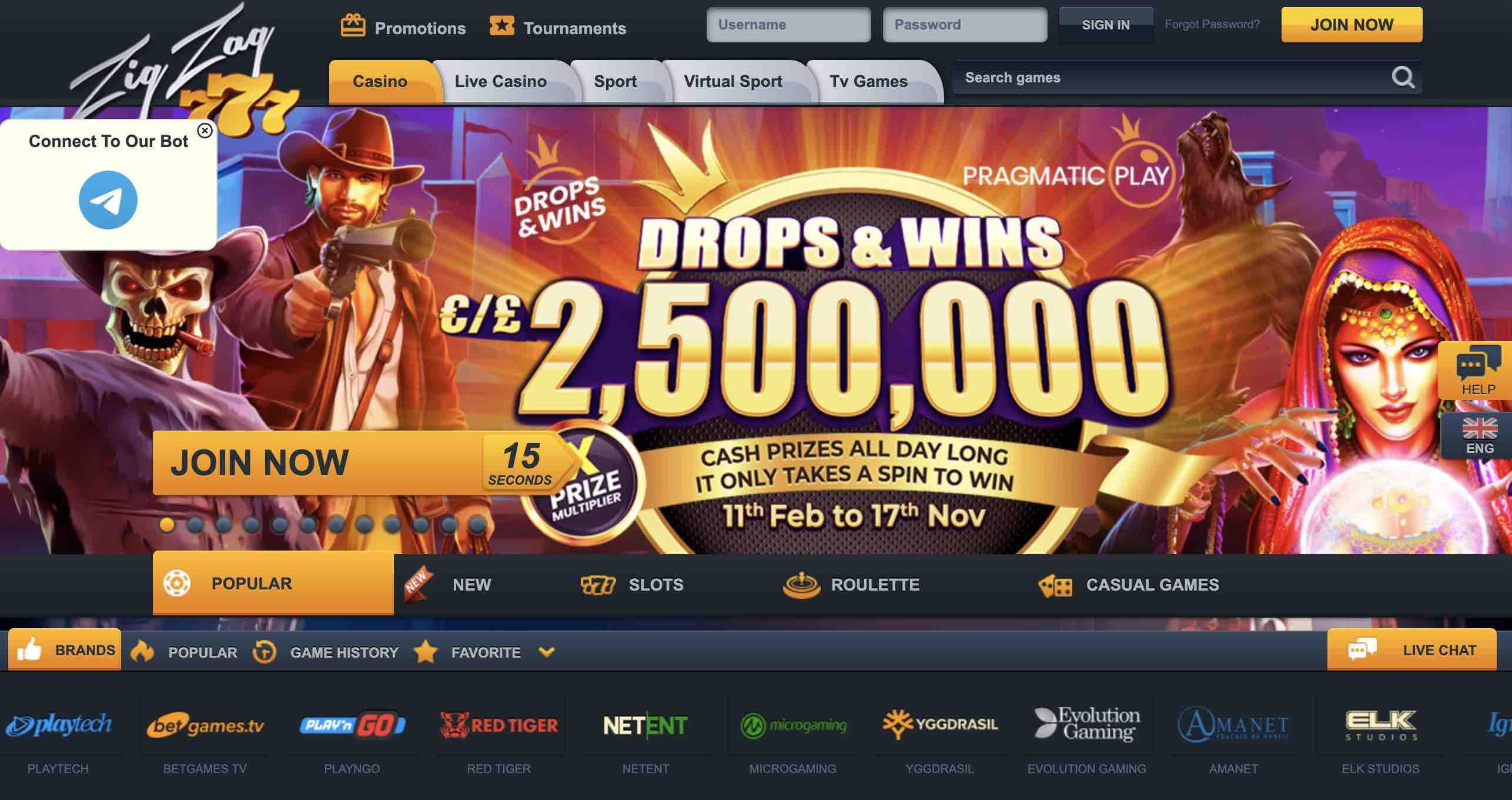 Win Big at Zig Zag 777 Casino