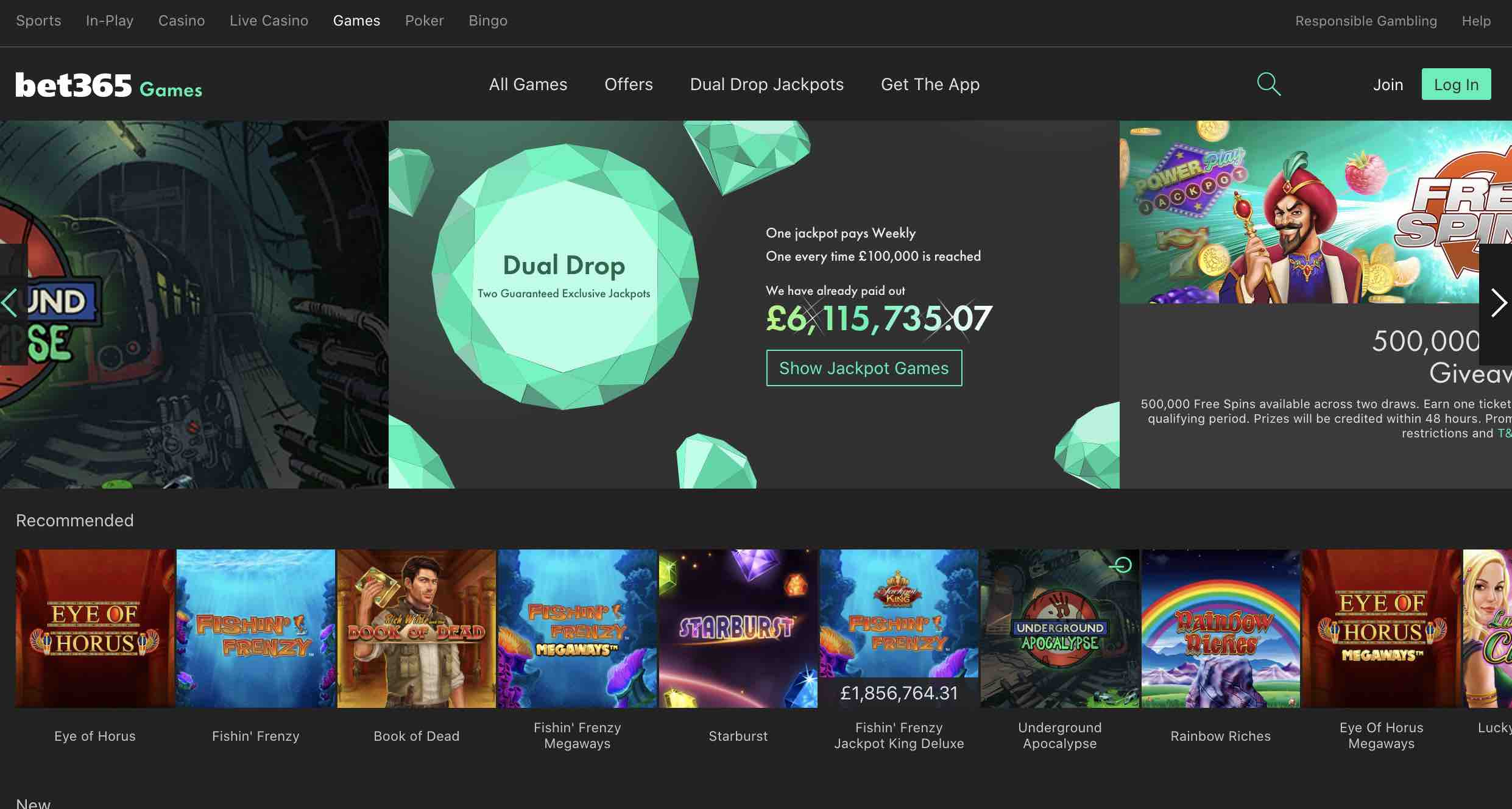 Best Games at bet365 Casino