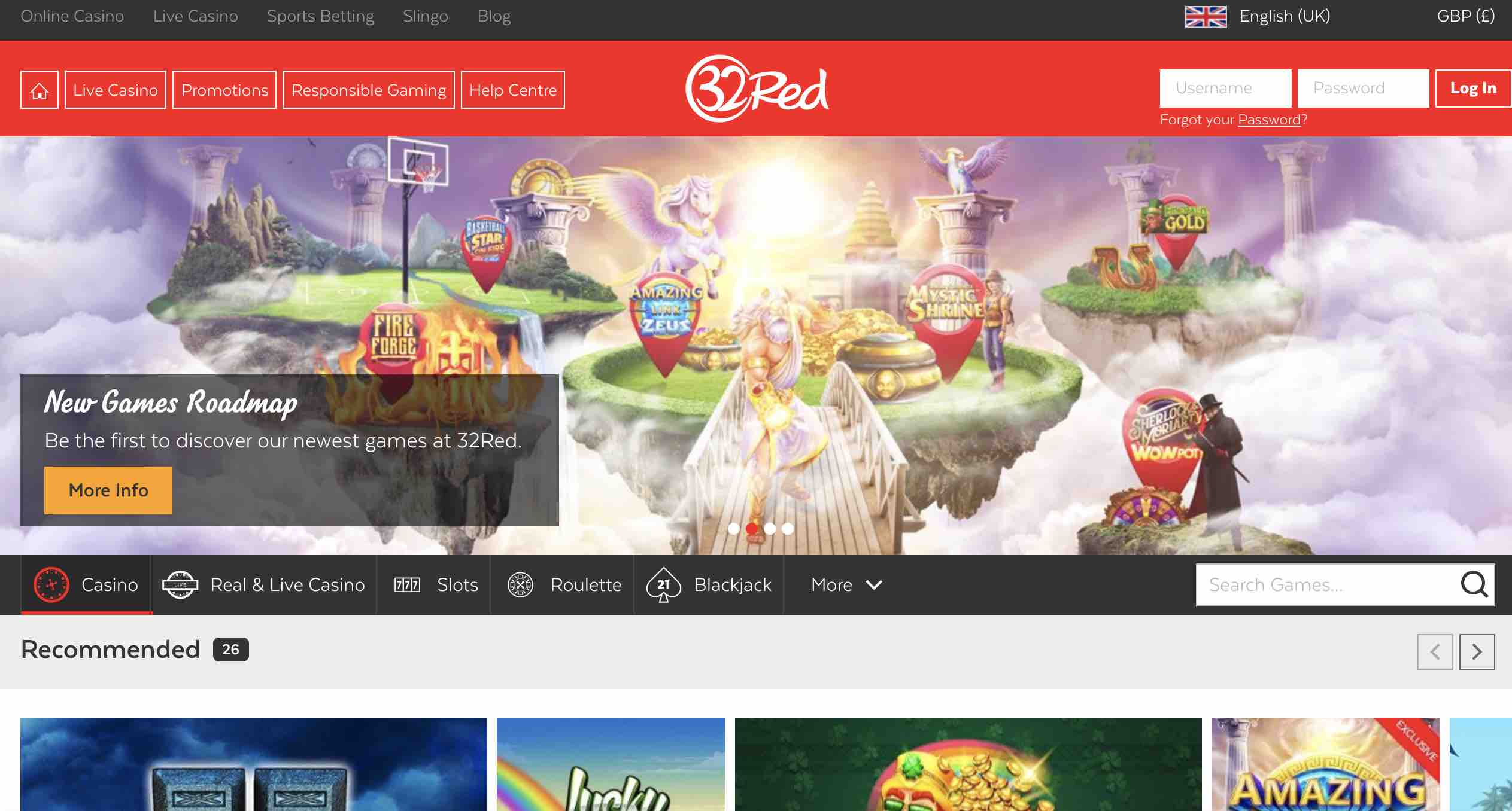 Join 32Red Casino Today