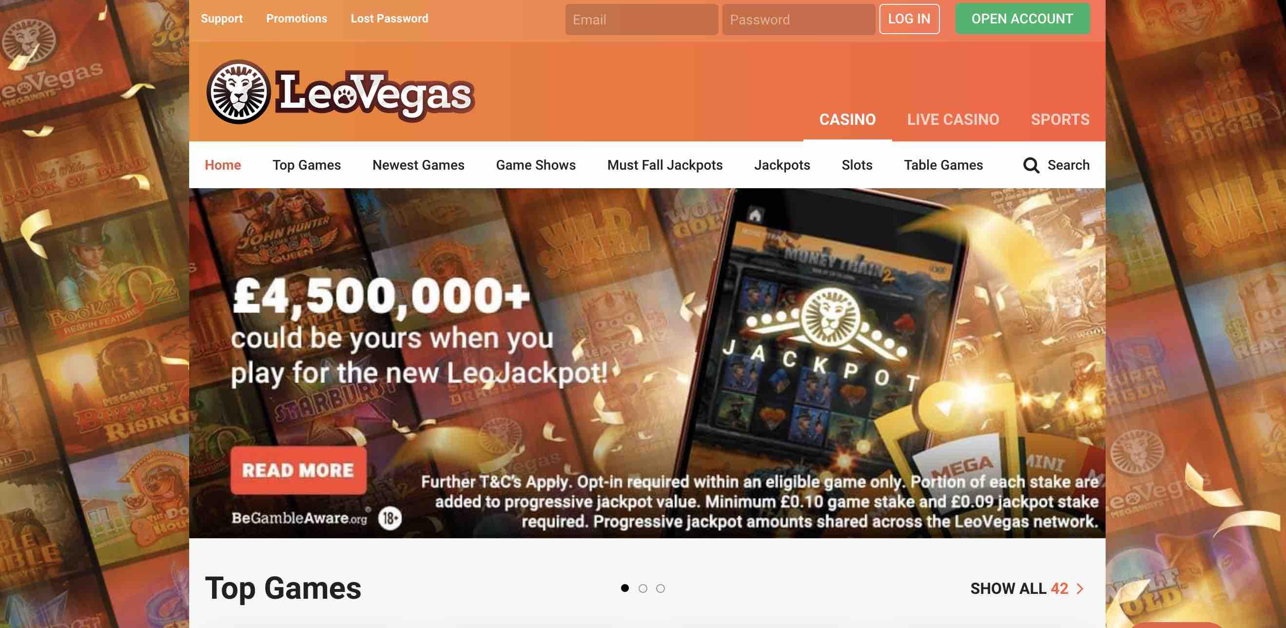 LeoVegas Casino Bonuses