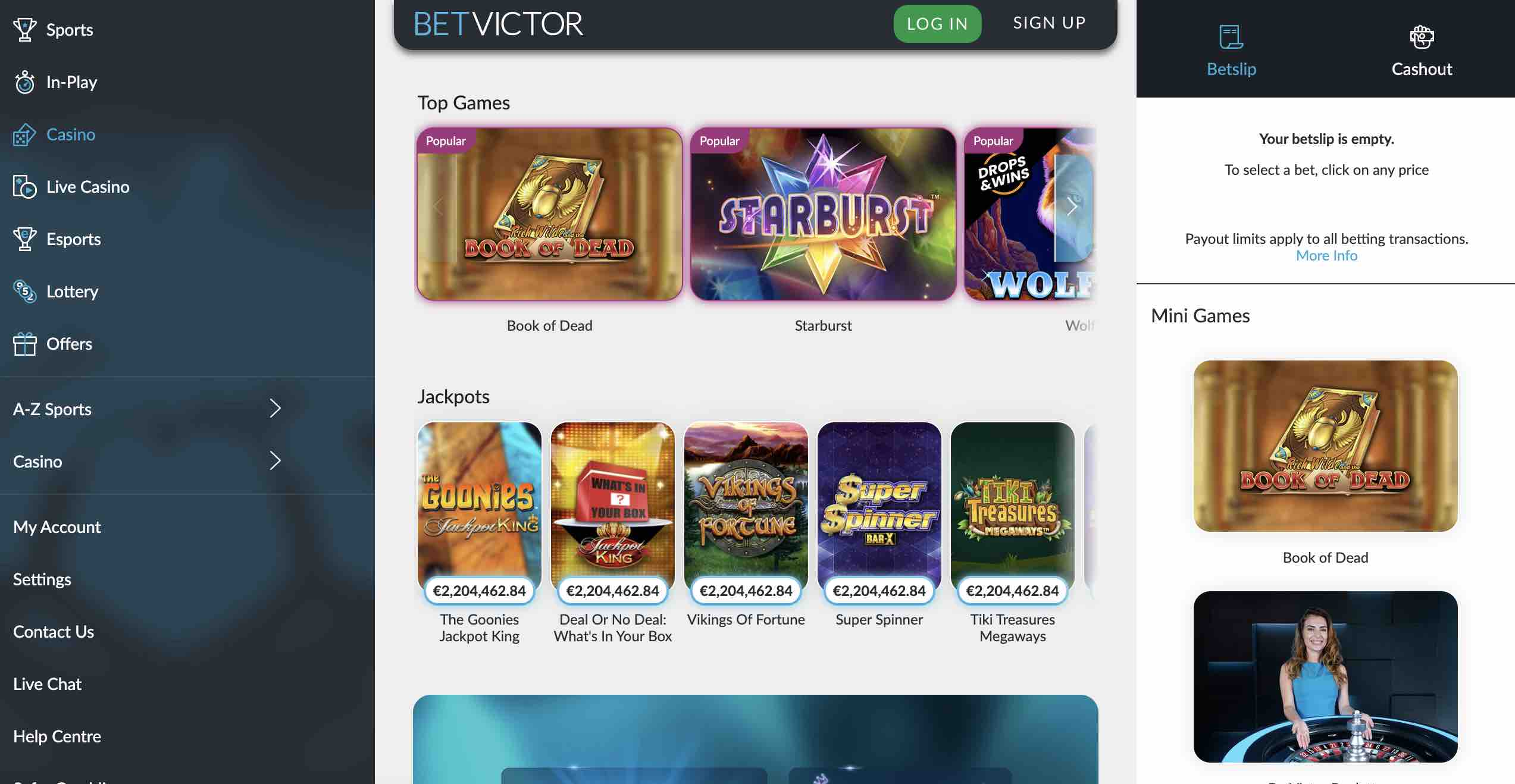 Play at BetVictor Casino