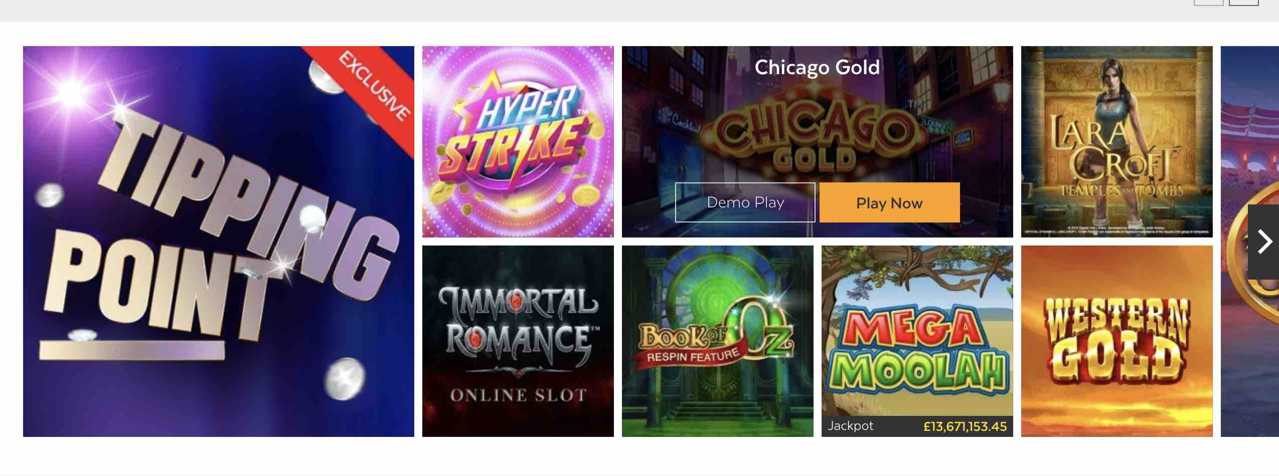 The Best Games at 32Red Casino