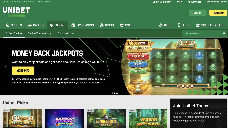 Best Slots at Unibet Casino