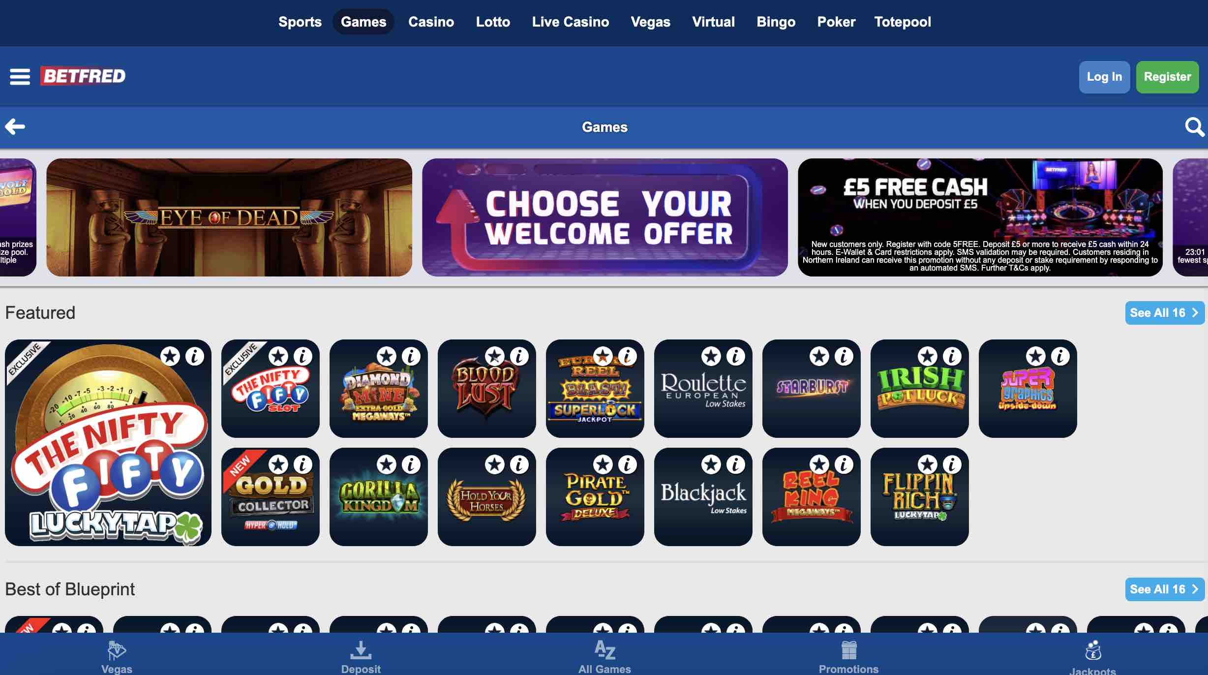Betfred Casino Review and Promos