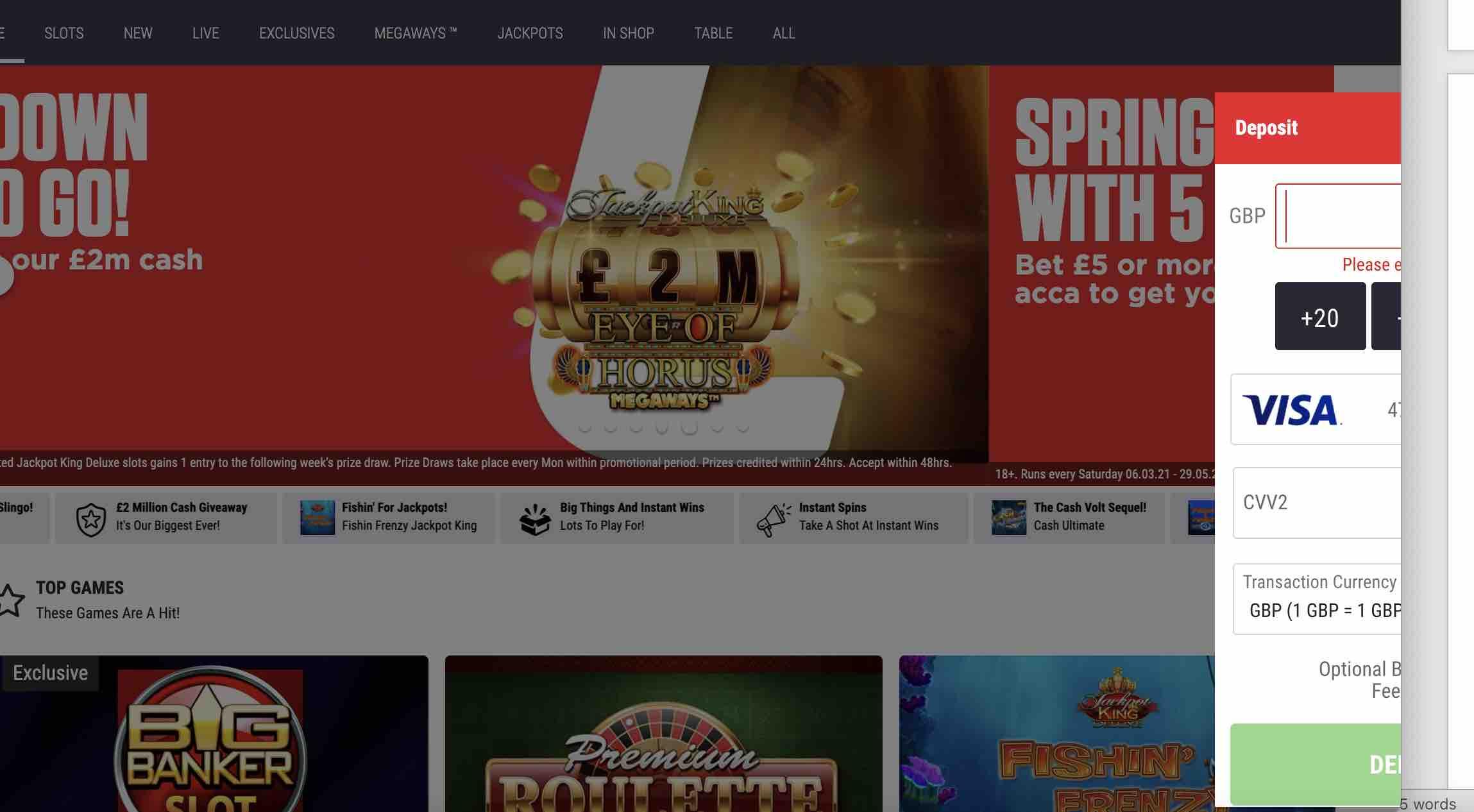 Deposit Issues at Ladbrokes Casino
