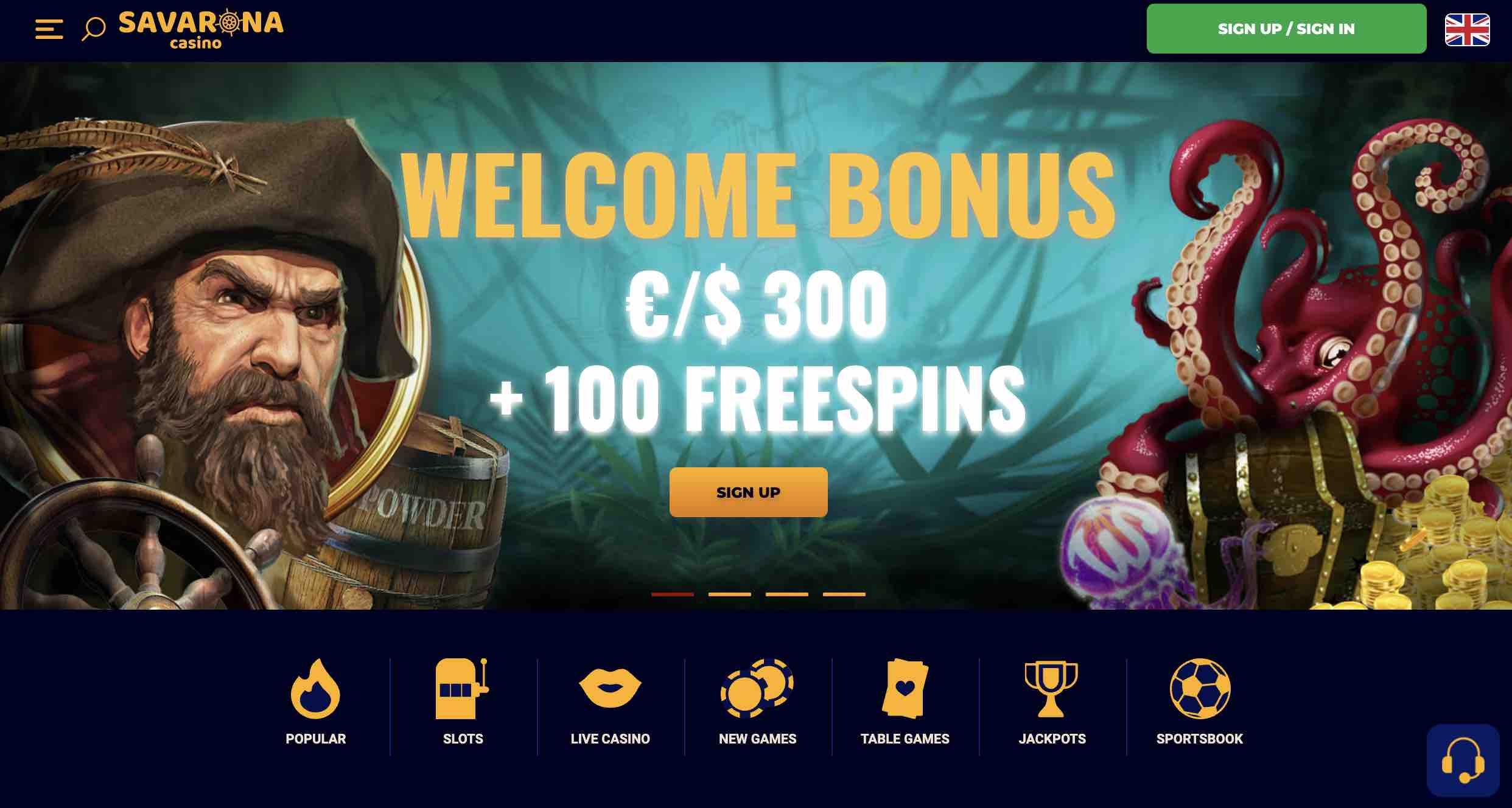 Welcome Bonus at Savarona Casino