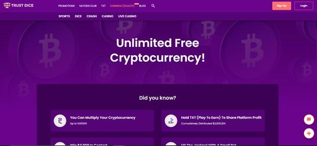 trust dice casino website design