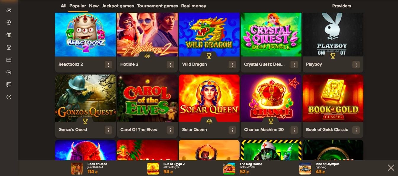 Sol Casino Games