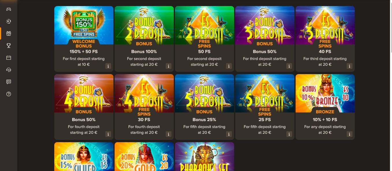 Sol Casino bonuses