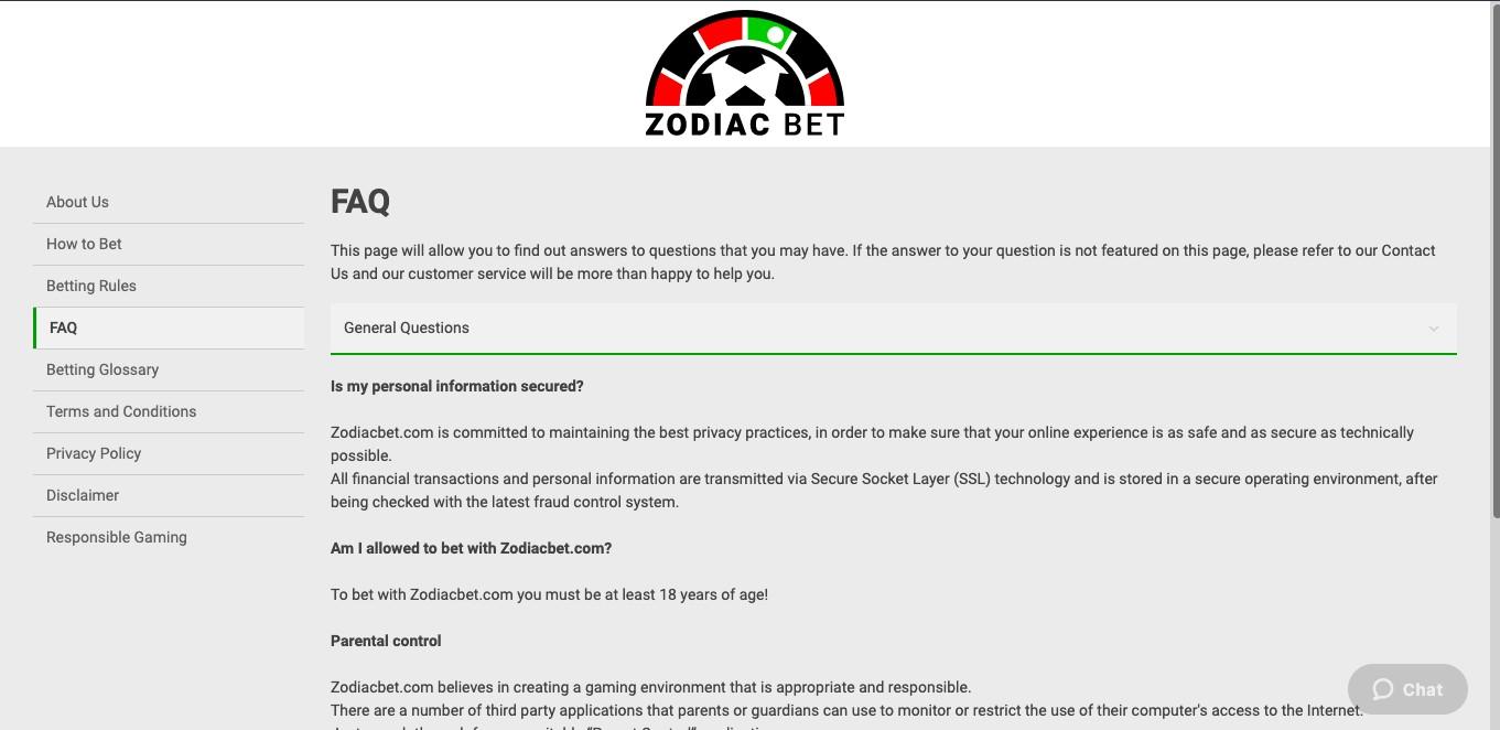 Zodiac Bet FAQ