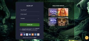 Sign up at MadMax Casino