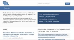 Swedish Gambling Authority Sites