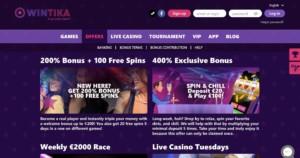 Wintika Casino Games