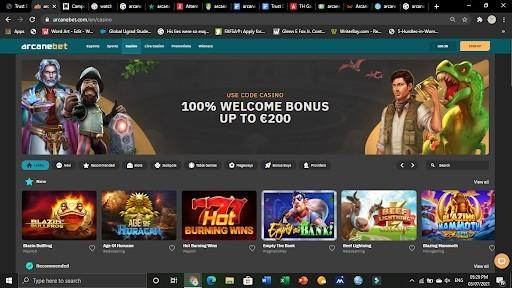 arcanebet Casino basics