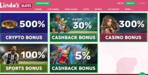 Bonuses at Lady Linda's Slots