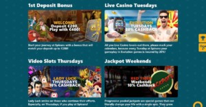 Spinaru Casino Bonuses