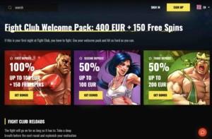 Fight Club Casino Welcome Bonus